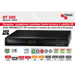 Combiné Satellite - TNT Triax ST-220